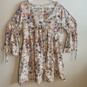 Umgee+ White Floral Dress Size 1XL